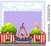 circus scene with two children... | Shutterstock .eps vector #372325576