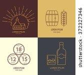 set of whisky logotypes. modern ... | Shutterstock .eps vector #372327346