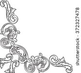 luxury art corner is isolated... | Shutterstock . vector #372327478