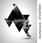 grey cosmic brilliant polygonal ... | Shutterstock .eps vector #372329344