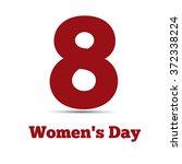 8 march  international women's... | Shutterstock .eps vector #372338224
