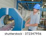 factory worker controlling...   Shutterstock . vector #372347956