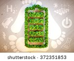 sustainable energy concept. 3d... | Shutterstock . vector #372351853