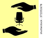 office chair sign. save or... | Shutterstock .eps vector #372352678