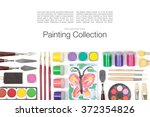 painting appliances  brushes ...   Shutterstock . vector #372354826