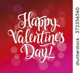 happy valentines day... | Shutterstock .eps vector #372356560