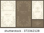 wedding invitation vintage card ... | Shutterstock .eps vector #372362128