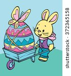 coloring. happy easter. cute... | Shutterstock .eps vector #372365158