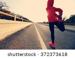 young fitness woman runner... | Shutterstock . vector #372373618