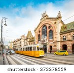 central market hall in budapest ... | Shutterstock . vector #372378559