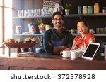 portrait of couple running...   Shutterstock . vector #372378928