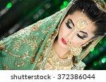 portrait of a beautiful elegant ... | Shutterstock . vector #372386044