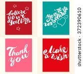 postcard design template with... | Shutterstock . vector #372390610