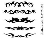 tattoo tribal lower back...   Shutterstock .eps vector #372398110