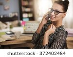 all busy day spent in the office | Shutterstock . vector #372402484