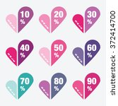 heart sale stickers  with... | Shutterstock .eps vector #372414700