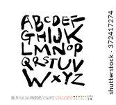 alphabet   number   handwriting ... | Shutterstock .eps vector #372417274