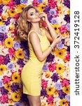 beautiful sensual woman in... | Shutterstock . vector #372419128
