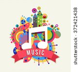 music note icon  audio sound... | Shutterstock . vector #372421438
