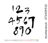 alphabet   number   handwriting ... | Shutterstock .eps vector #372439510