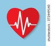 cardiogram or heart rhythm... | Shutterstock . vector #372449140