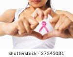 heart framing from fingers on... | Shutterstock . vector #37245031