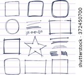 hand drawn frames and dividers. ... | Shutterstock .eps vector #372450700