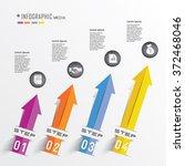 business info graphics arrow... | Shutterstock .eps vector #372468046