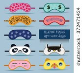 sleeping masks vector design... | Shutterstock .eps vector #372471424