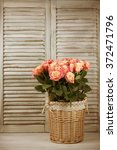 Bunch Of Pink Rose Flowers In...
