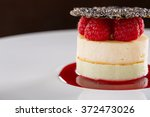 cheesecake with raspberries | Shutterstock . vector #372473026