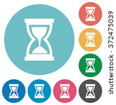 flat hourglass icon set on...