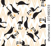 seamless vintage pattern with... | Shutterstock .eps vector #372480253