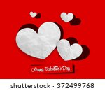 valentine's day red and white... | Shutterstock .eps vector #372499768