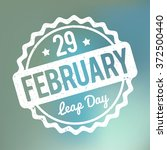 29 february leap day rubber... | Shutterstock .eps vector #372500440