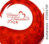 happy valentine's day greeting... | Shutterstock .eps vector #372501739