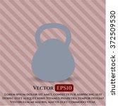 kettlebell icon vector...   Shutterstock .eps vector #372509530