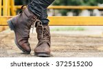 men fashion legs in black jeans ... | Shutterstock . vector #372515200