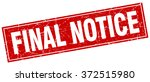 final notice red square grunge...   Shutterstock .eps vector #372515980