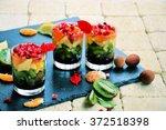 fruit salad  rainbow   trends...   Shutterstock . vector #372518398