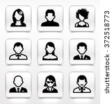 people face set on white square ... | Shutterstock .eps vector #372518773