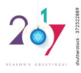 seasons greetings. happy new... | Shutterstock .eps vector #372522889
