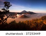 volcano.  mount bromo volcanoes ... | Shutterstock . vector #37253449