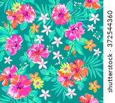 Cute Tropical Print   Seamless...