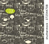 seamless menu pattern with... | Shutterstock .eps vector #372544708