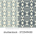 retro seamless pattern 2 color... | Shutterstock .eps vector #372549430