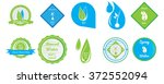 set of different mineral water... | Shutterstock .eps vector #372552094