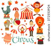 circus entertainment symbols... | Shutterstock .eps vector #372553924