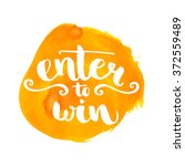 enter to win giveaway badge.... | Shutterstock .eps vector #372559489