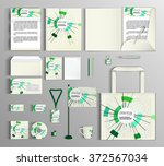 corporate identity template... | Shutterstock .eps vector #372567034